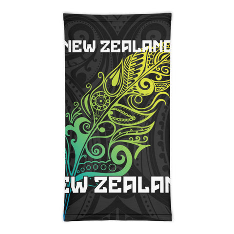New Zealand Bandana, New Zealand Polinesian Colored Light Fern A10