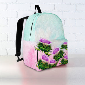 Scotland Backpack - Thistle Watercolor A1