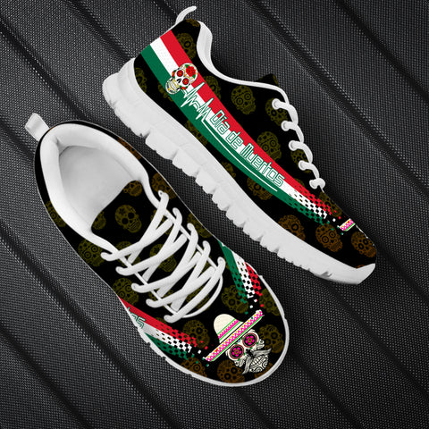 Mexico Day of The Dead Heartbeat Sneakers