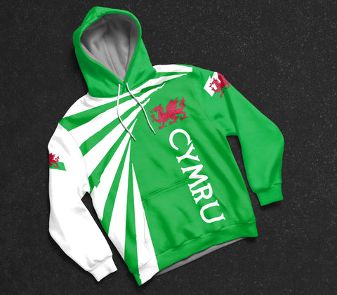 Image of Cymru Hoodie - Tornado Version Th0