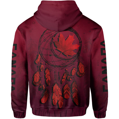 Image of Canada Maple Leaf Dreamcatcher Zip Hoodie | Clothing | 1sttheworld