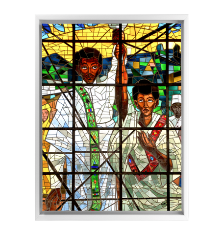 Ethiopia Framed Wrapped Canvas, Ethiopian Orthodox A10