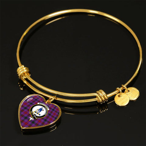 Montgomery Modern Tartan Gold Bangle - Tn Jewelries