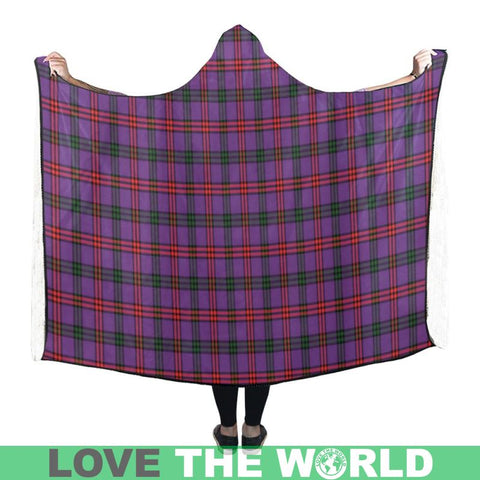 Montgomery Modern Tartan Hooded Blanket - M One Size / Hooded Blanket 50X40 Blankets