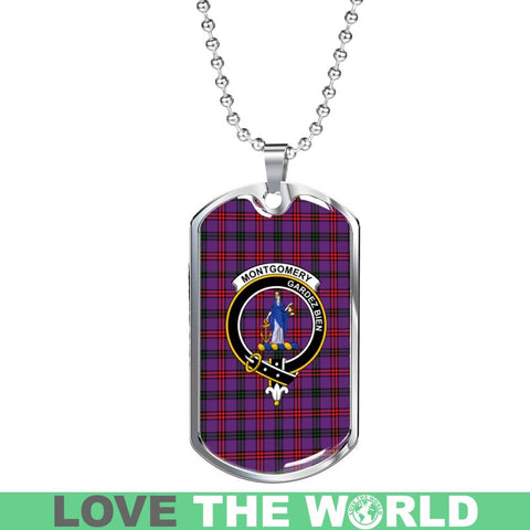 Image of Montgomery Tartan Clan Badge Dog Tag Hj4 Tags