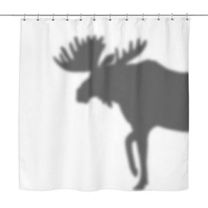 Moose Shadow Shower Curtain A0 1 Curtains