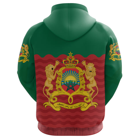 Morocco Zip Up Hoodie Coat of Arms K4