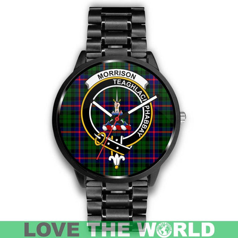 Morrison Modern Clan Badge Tartan Leather/steel Watch - NN5 Mens 40Mm / Brown Leather-Steel Watches