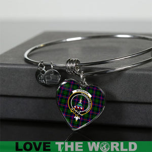 Morrison Tartan Silver Bangle - BN