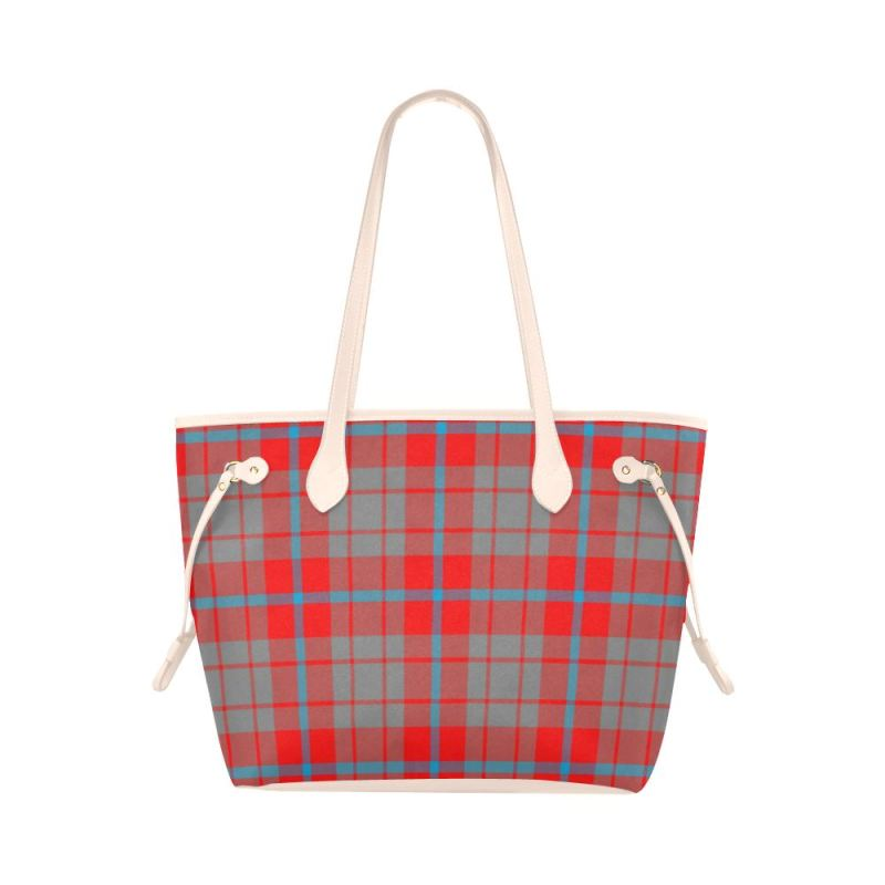 Moubray Tartan Clover Canvas Tote Bag Th1 Bags