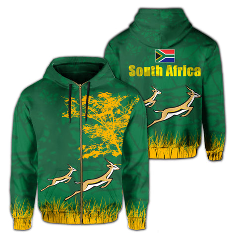 South Africa Springboks Hoodie (Zip-up)