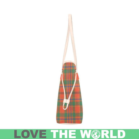 Image of Munro Ancient Tartan Clover Canvas Tote Bag Th1 Bags
