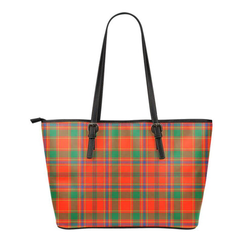 Munro Ancient Tartan Small Leather Tote Bag Nl25 Totes