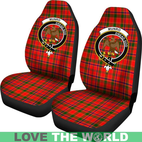 Munro Clan Badges Tartan Car Seat Cover Ha5