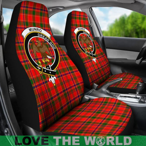 Image of Munro Clan Badges Tartan Car Seat Cover Ha5