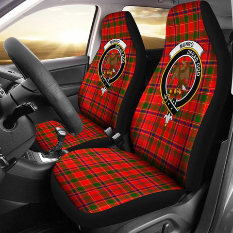 Image of Munro Tartan Car Seat Cover - Clan Badge