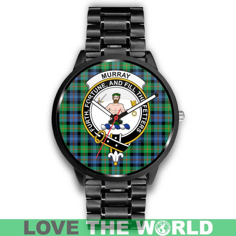 Murray Of Atholl Ancient Clan Badge Tartan Leather/Steel Watch - Bn |Men and Women| 1sttheworld