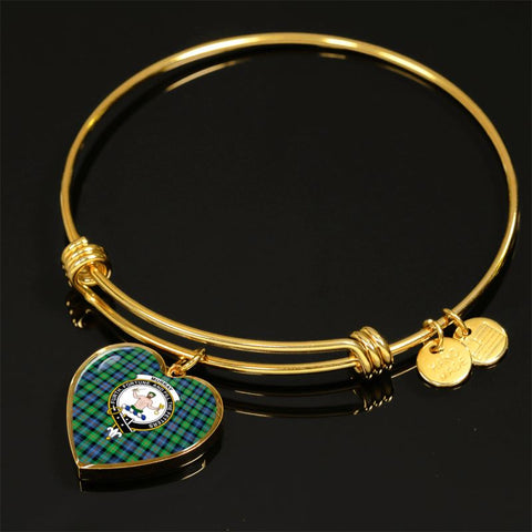 Murray Of Atholl Ancient Tartan Gold Bangle - Tn Jewelries