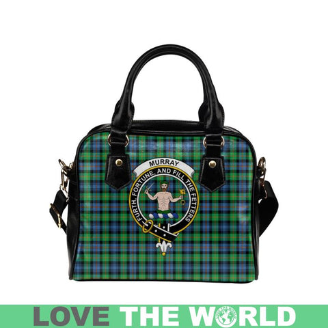 Murray Of Atholl Ancient Tartan Shoulder Handbag - Bn Pu Handbags