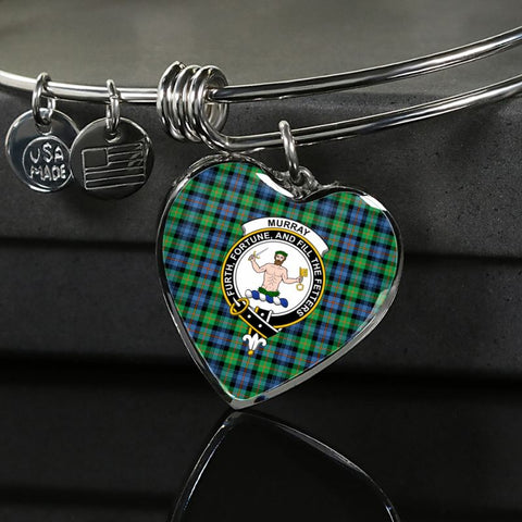 Murray Of Atholl Ancient Tartan Silver Bangle - Sd1 Luxury Bangle (Silver) Jewelries