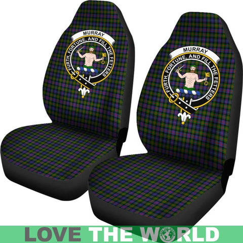 Murray Of Atholl Clan Badges Tartan Car Seat Cover Ha5