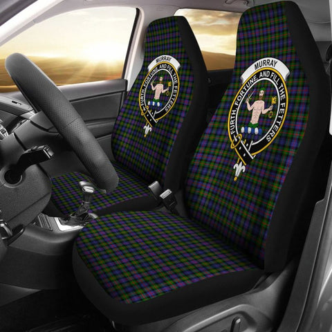 Murray Of Atholl Tartan Car Seat Cover - Clan Badge