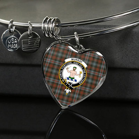 Murray Of Atholl Weathered Tartan Silver Bangle - Sd1 Luxury Bangle (Silver) Jewelries