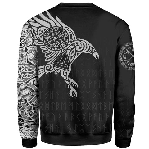 Vikings SweatShirt Custom Personalised The Raven Of Odin Tattoo A7