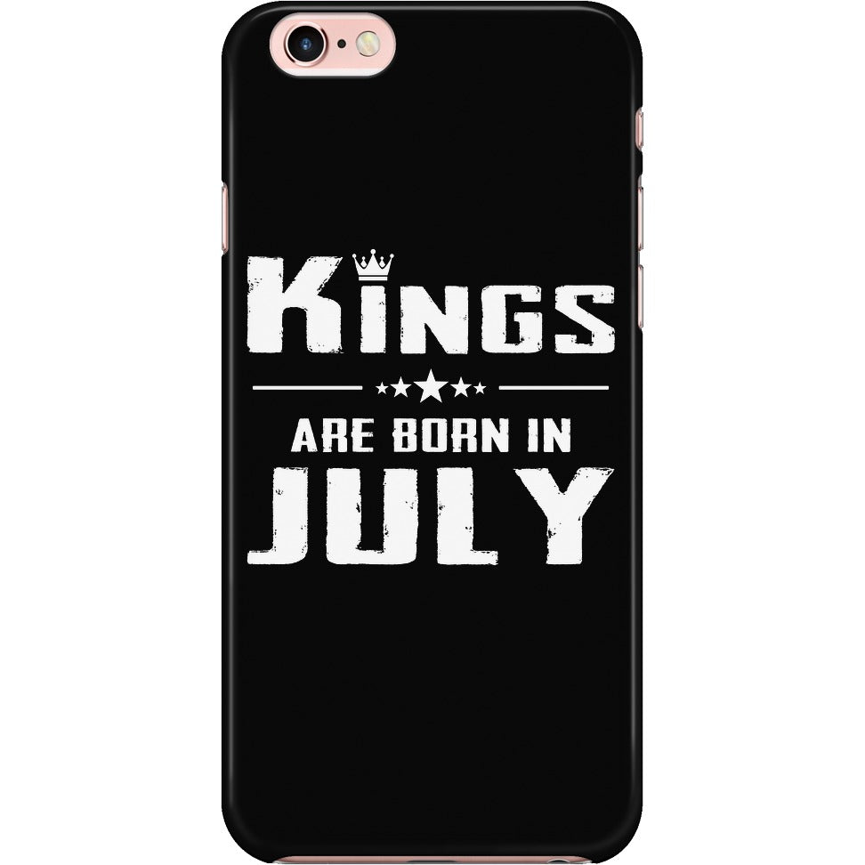 KINGS ARE BORN IN JULY IPHONE CASE