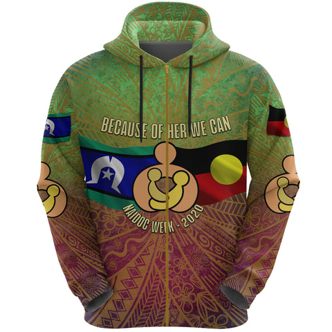 Naidoc Week 2020 Zip Hoodie - Aboriginal and Torres Strait Islander | 1sttheworld.com