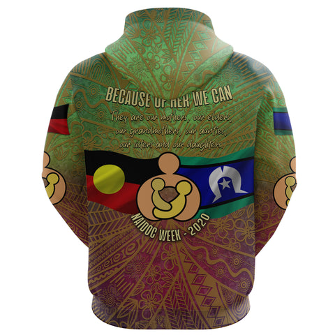 Naidoc Week 2020 Zip Hoodie - Aboriginal and Torres Strait Islander K4