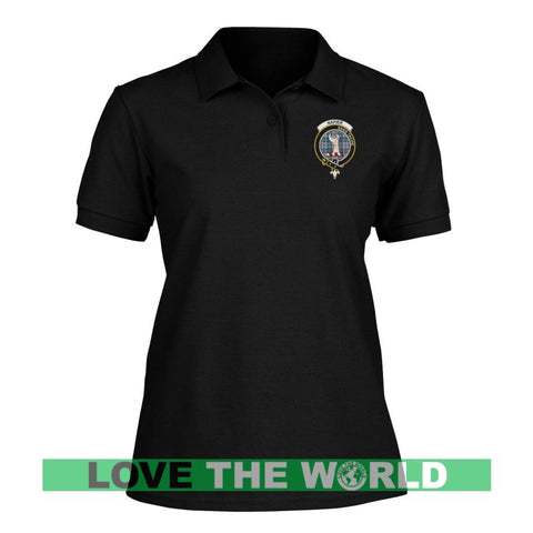 Image of Napier Badge Women Tartan Polo Shirt | Over 300 Clans Tartan | Special Custom Design | Love Scotland