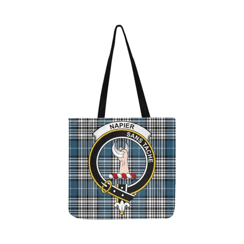 Napier Modern Clan Badge Tartan Reusable Shopping Bag - Hb1 Bags