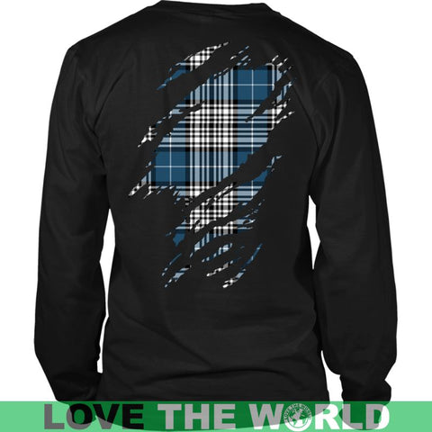 Image of Napier Modern In Me T-Shirt Ha8 District Long Sleeve Shirt / Navy S T-Shirts