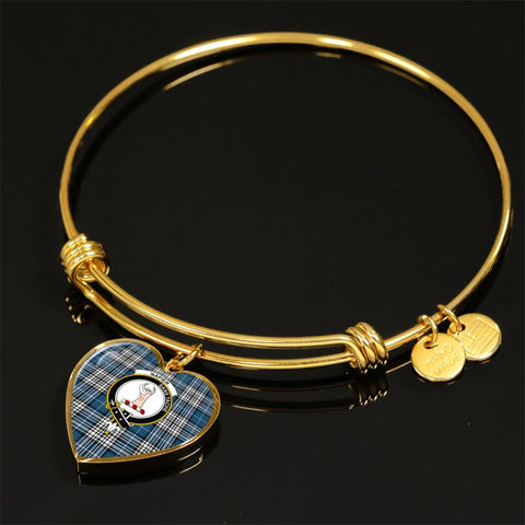 Napier Modern Tartan Golden Bangle - Tn Adjustable Bangle Jewelries