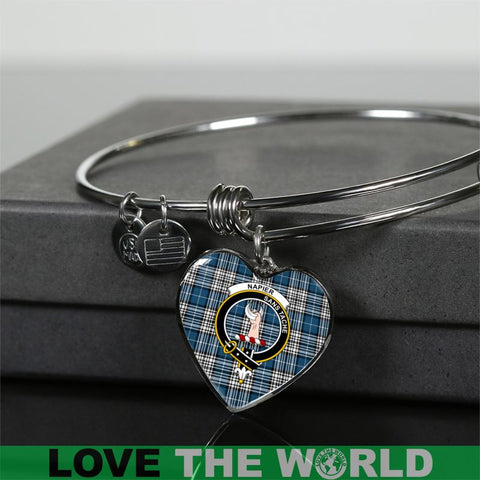 Image of Napier Tartan Silver Bangle - Sd1 Luxury Bangle (Silver) Jewelries