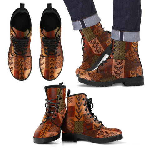 Native American 02 Leather Boots Ha8 Mens Leather Boots - Black Mens / Us5 (Eu38)