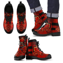 Native American Pattern Men's/ Women's Leather Boots NN8