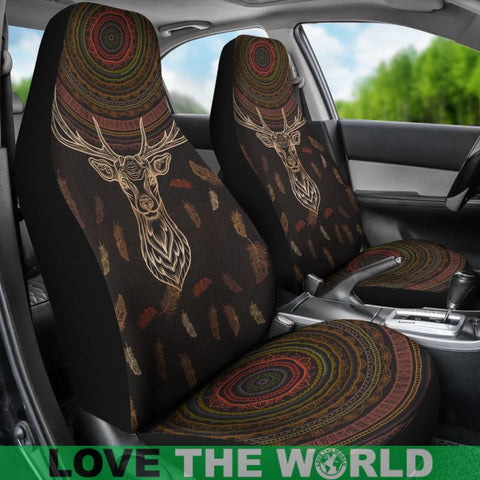 Native American Deer With Dreamcatcher Car Seat Covers Ha8 1sttheworld