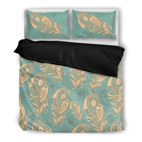 Native American - Feather Bedding Set Ha8 Bedding Set Black 01 Black / Twin Sets