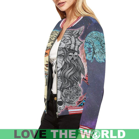 Image of Native American Jacket For Women - Bn Bomber Jackets