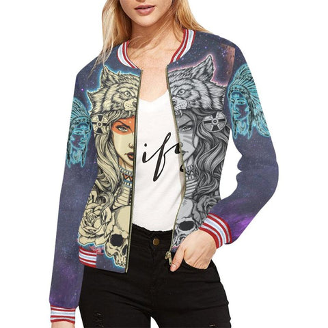Native American Jacket For Women - Bn Bomber Jackets
