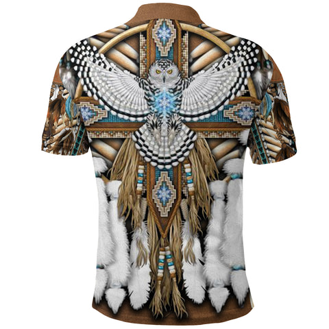 Image of Native American Breastplate Polo Shirt K8