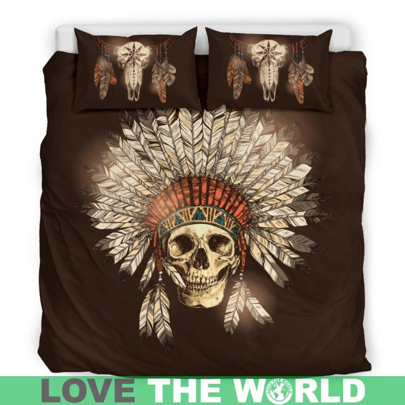 NATIVE SKULL BEDDING SET Y8