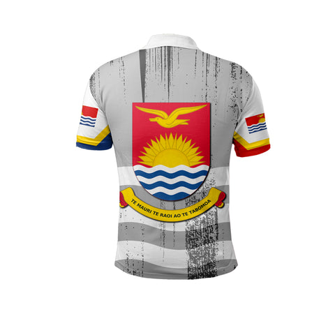 Image of Kiribati Flag Coat Of Arm Polo Shirt - J4