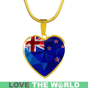 New Zealand Crystal Flag Heart-Shaped Jewelries F7