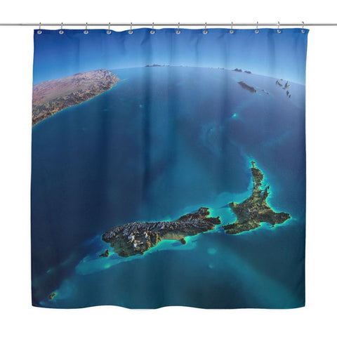 New Zealand From Out Space H21 Na1 Shower Curtains