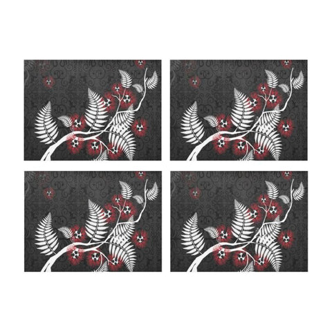 New Zealand Pohutukawa Placemat D1 One Size / Placemat 14ÌÒåÈÌÒåÈ X 19ÌÒåÈÌÒåÈ (Four Pieces)