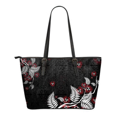 New Zealand Pohutukawa Small Leather Totes D1