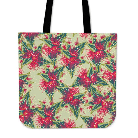 New Zealand Rata Flower Tote Bag H4 Bags